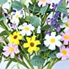 "3 Pack Flower Stems,Artificial Daisy Lavender Stems with Green Leaves Floral Picks for Vase Centerpiece Home Decor and DIY Crafts-24"" Tall #5"