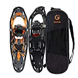 G2 30 Inches Orange Light Weight Snowshoes for Women Men Youth, Set with Tote Bag, Special EVA Padded Ratchet Binding, Heel Lift