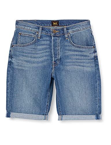Lee 5 Pocket Short Pantalones Cortos, Maui Mid, 34 para Hombre