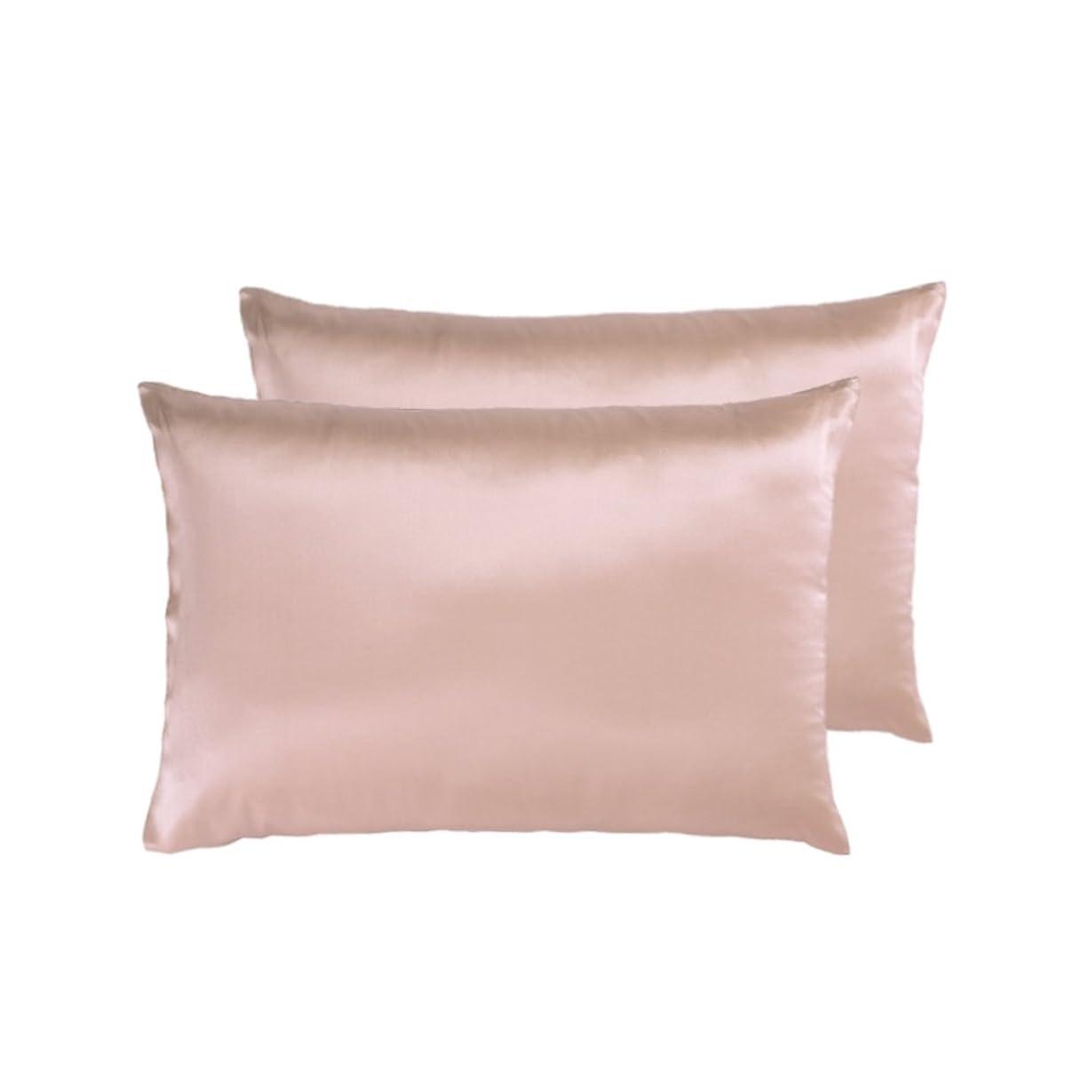 反逆まだ破滅的なシルクまくらカバー 両面絹 枕カバー 43 63 枕头套   22匁 封筒式 ピローケース   ピンク 2枚