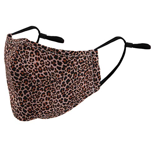Leopard Animal Print Reusable Cloth Face Mask with Filter