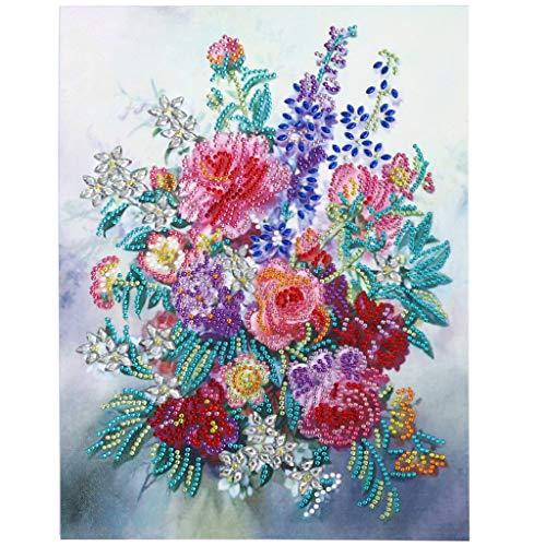 FILOL 5D DIY Diamond Painting Cross Stitch Kit, Full Special Shaped Diamond Crystal Rhinestone Arts Craft for Home Wall Decor (B)