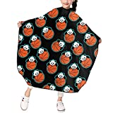 Lazy Panda Basketball Haircut Cape Kids Haircut Apron Waterproof Professional Salon Hair Cutting Polyester Cape,Barber Hairdressing Cover For Girls Boys 39 X 47 In