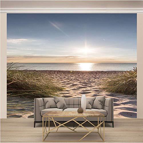 Wandtapete 3D Fototapete Weißer Sandstrand Tapeten wohnkultur tapete schlafzimmer tapeten für kinderzimmer, 250x175 cm