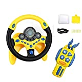 Steering wheel toy - Simulated Driving Controller with car Keys,Children's Copilot Educational Toy with Lights Music Driver - Old Best Gift for Kids 2 Years + ZOULME