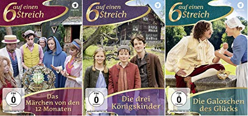 Sechs auf einen Streich - Die drei Königskinder + Die Galoschen des Glücks + Das Märchen von den 12 Monaten