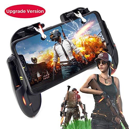 Eileen&Elisa PUBG beweglicher Spiel Controller mit Kühlventilator für PUBG/Fortnite/Rules of Survival, Spielgriff und Joysticks leichtgewichtig beweglicher Controller für 4.5-6 zöllige Handys