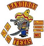 Bandidos Patches Biker Vest Iron-On Jacket Active