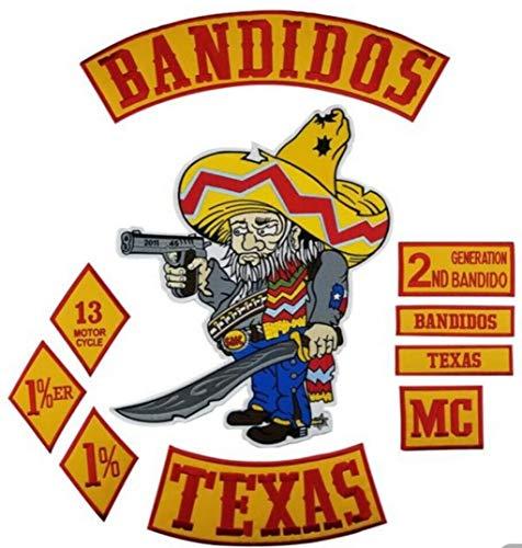 Bandidos Patches Biker Weste Bügeljacke Active