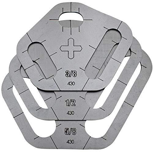 "Plasma Stencil - Tri Slot Cutter Guide - 3 pc. Kit - .380"""