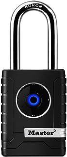 Master Lock 4401EURDLH Smart Padlock [Bluetooth Compatible with Smartphones] [Long Shackle] [Weatherproof] 4401EURDLH-Best...
