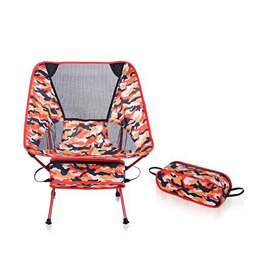 U/A Plegables sillas de Camping, sillas al Aire Libre con Bolsa de Transporte, Estructura Estable, M