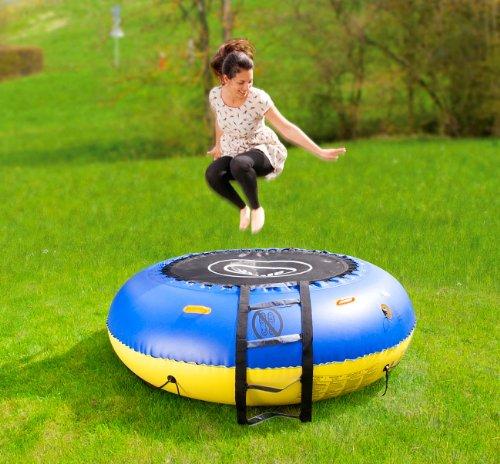 infactory Wassertrampolin: 4in1-Trampolin für Wasser und Garten (Schwimmtrampolin)