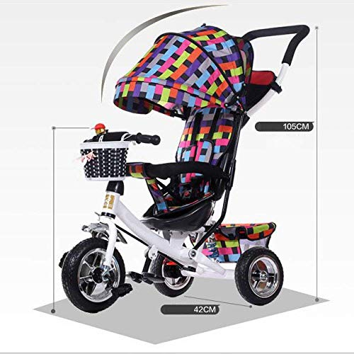 Affordable PLDDY Standard Toy Car Stroller High Landscape Tricycle Stroller 2-7 Years Old Portable S...