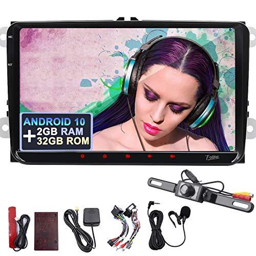 9' Android 10 2 GB di RAM 32 GB di ROM auto radio navigazione GPS per VW HD Touch Screen vivavoce Bluetooth Carautoplay Android auto DAB+ USB WiFi