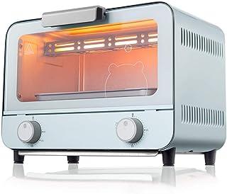 AFDK Mini horno tostador de 9L, incluye bandeja para hornear, parrilla para asar, horno pequeño con bandeja extraíble para escoria, puerta de vidrio templado a prueba de explosiones, tostadora de ace