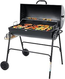BBGS Charcoal BBQ Grill, Portabel Backyard Smoker Camping Outdoor Party Vandring Picnics Matlagning Spisar w/Hjul Och Förv...