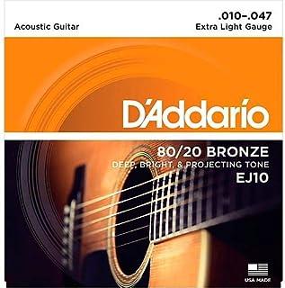 D'Addario Bronze Acoustic Guitar Strings - EJ10 80/20