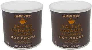 Trader Joes Salted Caramel Flavored Hot Cocoa Powder - Pack of 2 Jars - 10 oz Per Jar - Seasonal Item