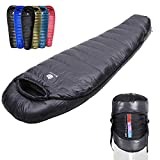 Anyoo Mummy Goose Down Sleeping Bag Ultralight Portable 10 Season for Backpacking Hiking Camping Indoor & Outdoor Use for Adult