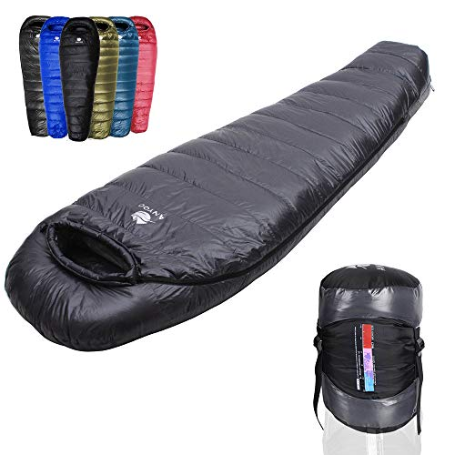 Anyoo Gänsedaunen Schlafsack Lightweight Portable Camping im Freien Compression Sack enthalten