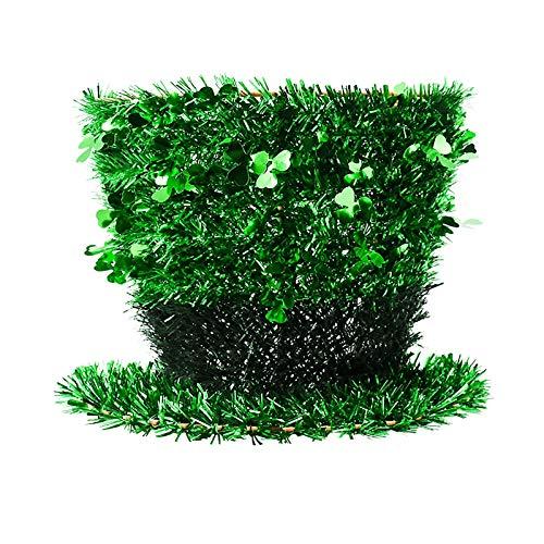 Moent Decoración para el día de San Patricio, trébol verde irlandés para puerta y pared para el hogar, suministros divertidos para decoración