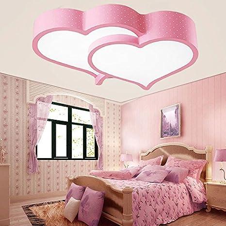 Zq Led Herzformige Decke Lampen Madchen Kinder Zimmer Schlafzimmer Leuchtlampen Romantische Hochzeit Pink Remote Control Amazon De Beleuchtung