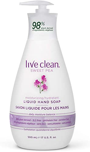Live Clean Liquid Hand Soap, Moisturizing Sweet Pea, 500 mL