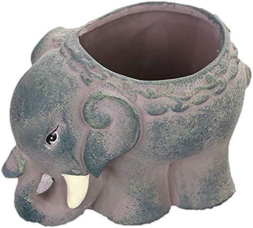 Pots en céramique Elephant Pot à Fleurs Cacti Succulent Plant Flower Pot Bonsai Pots Décoration Bricolage
