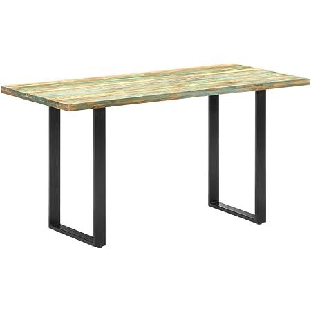 vidaXL Table de Salle à Manger Table à Dîner Table de Cuisine Table de Repas Meuble à Manger Maison Intérieur 140x70x76cm Bois de Récupération Massif