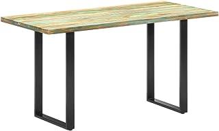 vidaXL Table de Salle à Manger Table à Dîner Table de Cuisine Table de Repas Meuble à Manger Maison Intérieur 140x70x76cm ...