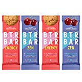 B.T.R. Bar Superfood Keto Protein Bars, Plant Based Vegan Protein, Low Carb Food, Low Calorie, Gluten Free, No Sugar Alcohols, Boosted with Superfoods & Adaptogens (Sampler Pack)