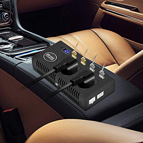 Inversor de corriente para coche Inversor de corriente para coche DC 12V 24V a AC 220V Cargador 200W con transmisión de voz