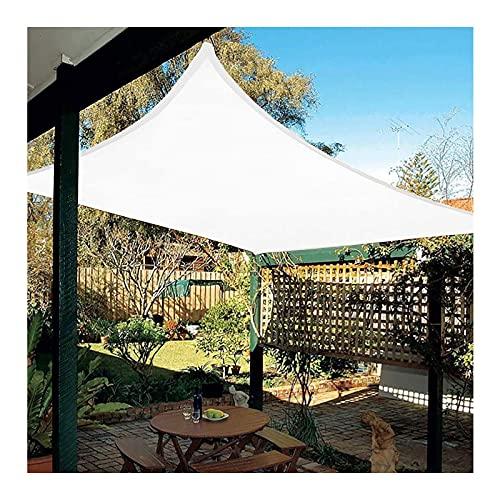 Toldo Vela de Sombra Impermeable exteriores, Toldo de Protección Solar Rectangular de 2x3m, Protección Rayos UV, a Prueba de Polvo y Viento, para Jardín, Patio, Exterior, Balcón, Blan(Size:2X2M/7