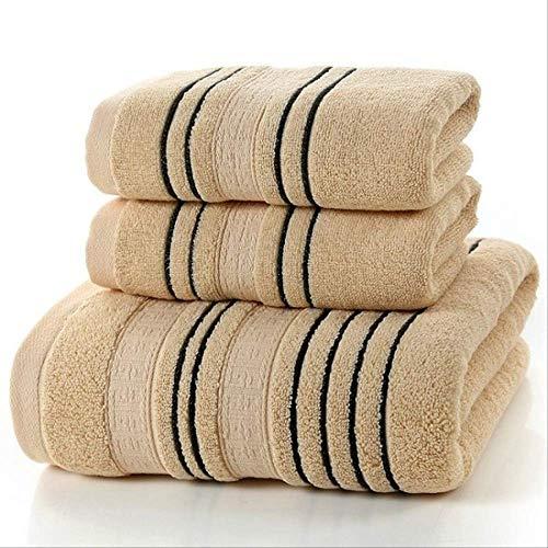 Nuevo juego de 3 piezas Juego de toallas de algodón gris para hombres 2 piezas de toalla facial Toallas de mano 1 pieza de baño Toallas de baño para camping Juego de toallas de baño 3 piezas de chocolate