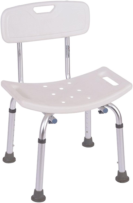 Shower Chair, Height Adjustable Thickening Bathroom Aluminum Alloy Bath Chair Safety Portable