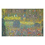 Country House by The Attersee by Gustav Klimt Puzzles for Adults, 1000 Piece Kids Jigsaw Puzzles Game Toys Gift for Children Boys and Girls, 20' x 30'