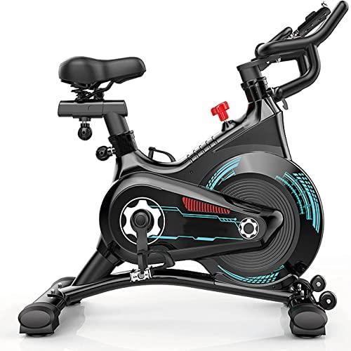 Bicicleta de Ciclismo Interior, Bicicleta de Ejercicios, Bicicleta estacionaria Resistencia magnética Susurro silencioso para el hogar Cardio Entrenamiento Pesado Volante y cómodo Asiento Cojín con