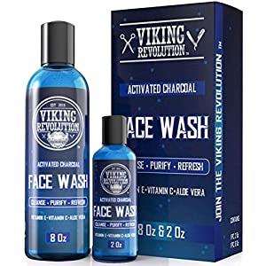 Charcoal Face Wash for Men- Scrub Away Dirt and Toxins - Cleanse, Purify and Refresh - Daily Charcoal Facial Cleanser 9