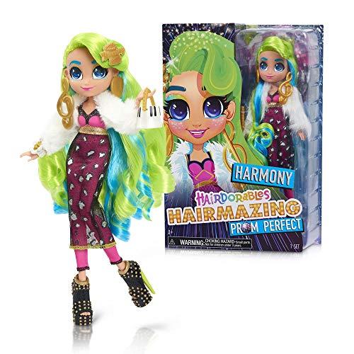 Hairdorables Hairmazing Harmony Puppe, 25 cm, Gelenk, Kleidung und Saumfrisuren