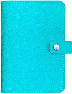 Spiral Notebook Binder, A6 Binder, 6 Ring Binder, Harphia(A6 7.20 x 5'', Mint Blue)
