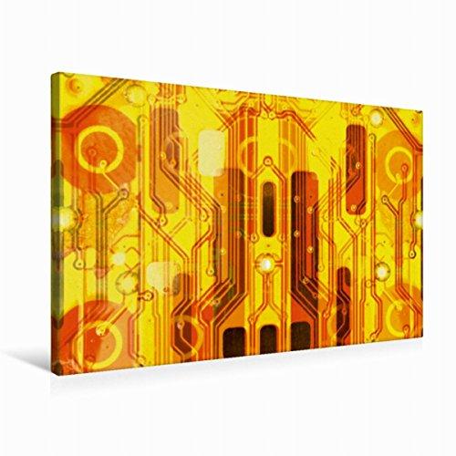 CALVENDO Premium Textil-Leinwand 75 x 50 cm Quer-Format Kirche auf goldenem Hintergrund, Leinwanddruck von Maurus Spescha