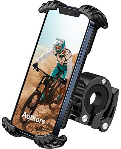 Autkors Supporto Telefono Bicicletta, Universale Porta Cellulare Motociclo Rotazione a 360° per iPhone 12, 11 Pro, X, 8, 7, 6, Galaxy, Huawei e Altri Smartphone da 4,7-7,0 Pollici