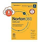 norton 360 deluxe 2020 |5 dispositivi licenza di 15 mesi | secure vpn e password manager pc, mac, tablet e smartphone | codice d'attivazione via email