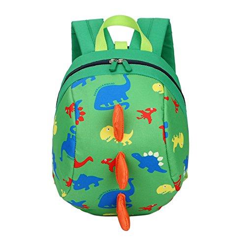 DafenQ Kleinkind Baby Rucksäcke Niedlich Animal Kindergartenrucksack Cartoon Harness Kinderrucksack Strap Leine Sicherheit Anti Verloren Rucksack für Kinder Jungen Mädchen (Grün)