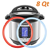 Silicone Sealing Ring for Instant Pot 8Qt, Fits Instant Pot Duo 8 Quart, Lux 8 Quart, Duo Plus 8 Quart, Ultra 8 Quart, Viva 8 Quart Savory Sky Blue & Sweet Cherry Red - 2 Pack