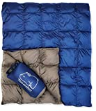 The Big Blue Mtn Lightweight Puffy Camping Blanket for Hiking Backpacking Hammock Tent Stadium Travel (Navy...