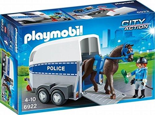 Playmobil 6922 6922-City Action Polizei mit Pferd und Anhänger, Multi