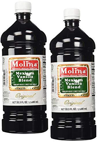 Molina Vainilla Mexican Vanilla Blend Vanillin Extract 33.3oz Two Pack