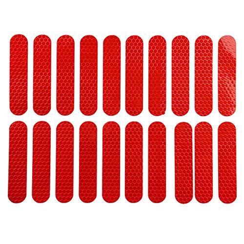Starnearby Pegatina Reflectante para Xiaomi M365 1 Juego de Pegatinas para Scooter Eléctrico Xiaomi M365 MAX G30 Rojo(280x220x1mm)